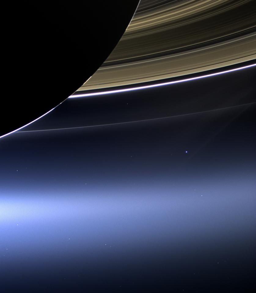 Die Erde vom Saturn